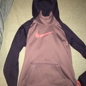 Purple nike pullover fleece